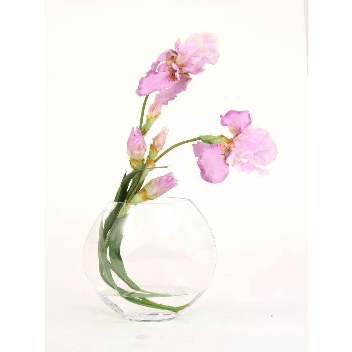Waterlook® Lavender Iris in Glass Disc