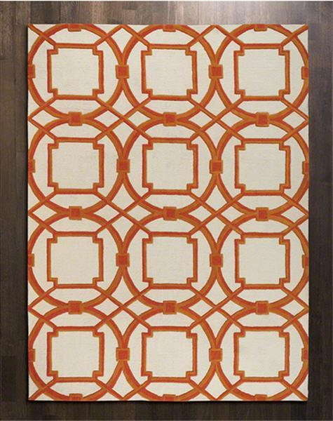 Global Views Home Arabesque Rug-Coral-9' x 12'