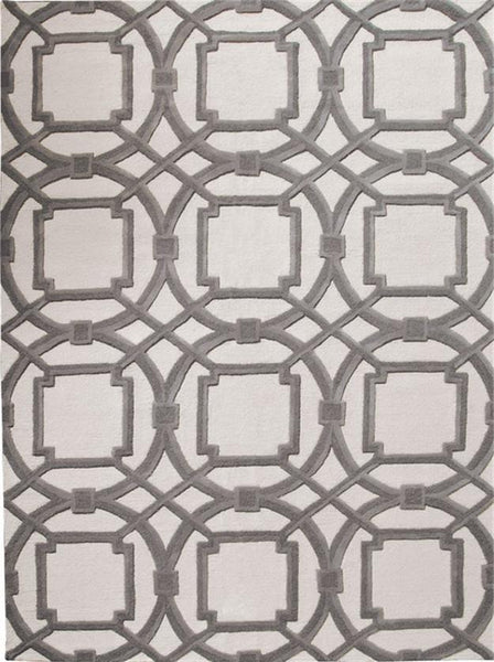 Global Views Home Arabesque Rug-Grey/Ivory-6' x 9'