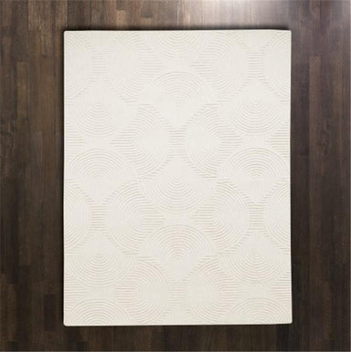 Global Views Home Arches Rug Ivory/Ivory-6' x 9'