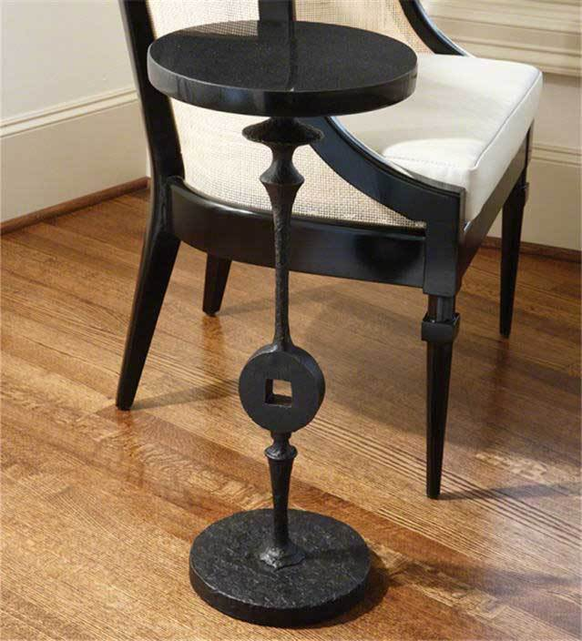 Global Views Furniture Artisan Square Peg Accent Table