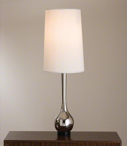 Global Views Lighting Bulb Vase Lamp-Nickel
