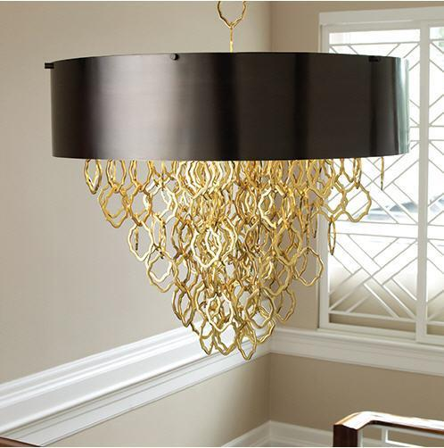 Global Views Lighting Chain Pendant-Brass/Bronze