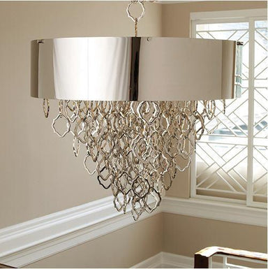 Global Views Lighting Chain Pendant-Nickel