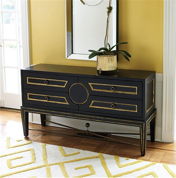 Global Views Furniture Collector's Console-Black