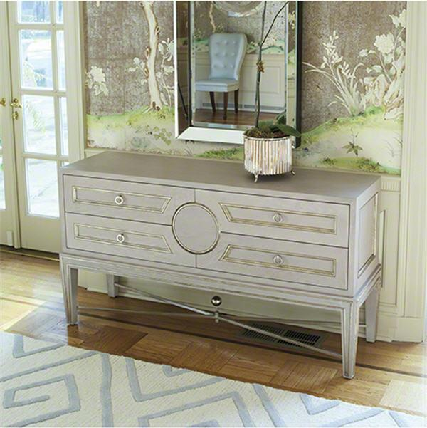 Global Views Furniture Collector's Console-Grey