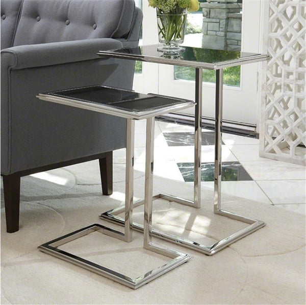 Global Views Furniture Cozy Up Table-Stainless Steel Finish-Small