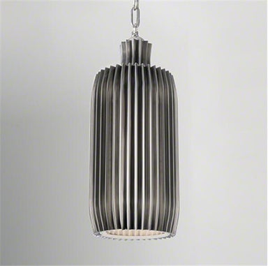 Global Views Lighting Crimp Bar Pendant-Antique Nickel