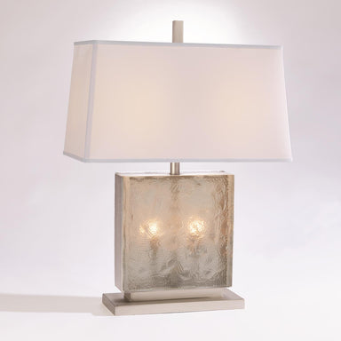 Global Views Home Cube Slab Table Lamp-Antique Nickel 7.91079