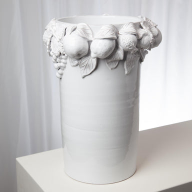 Global Views Home Della Robbia Vase-Antique White 3.31470
