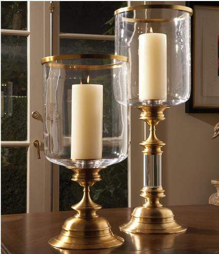 Global Views Home Estate Hurricane-Antique Brass (Left)