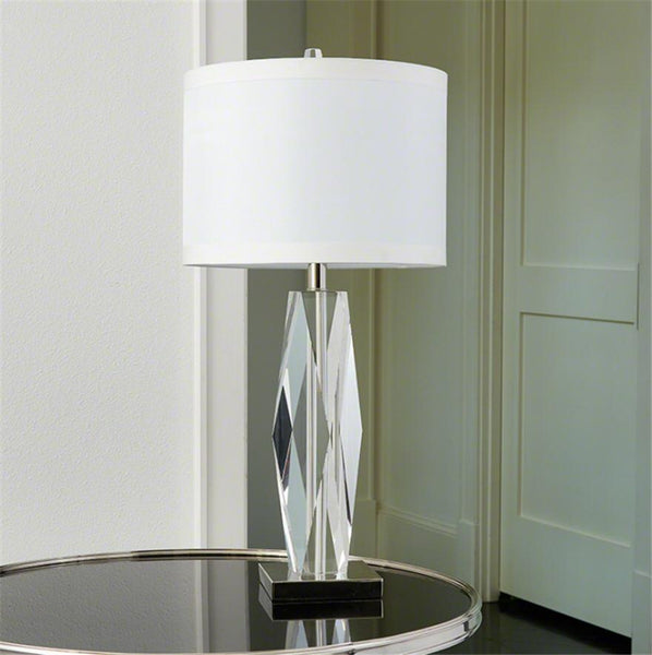 Global Views Lighting Faceted Crystal Lamp