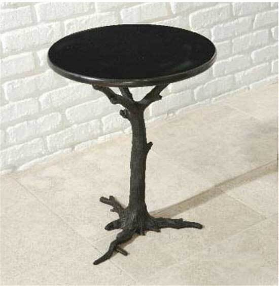 Global Views Furniture Faux Bois Side Table