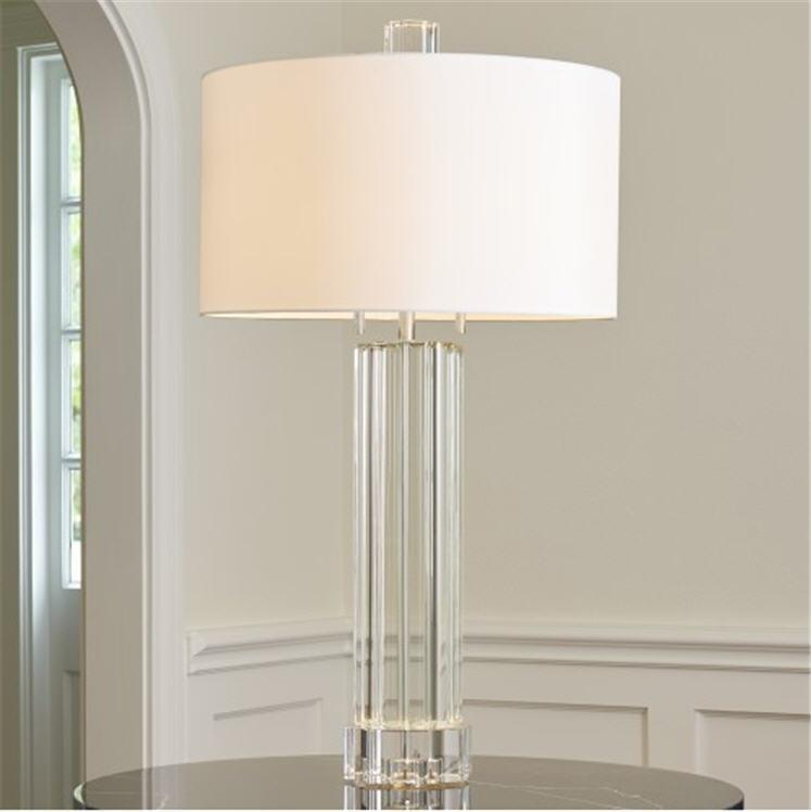 Global Views Lighting Fluted Crystal Column Table Lamp