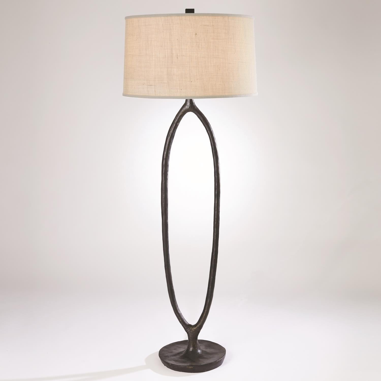 Global Views Ellipse Floor Lamp-Bronze