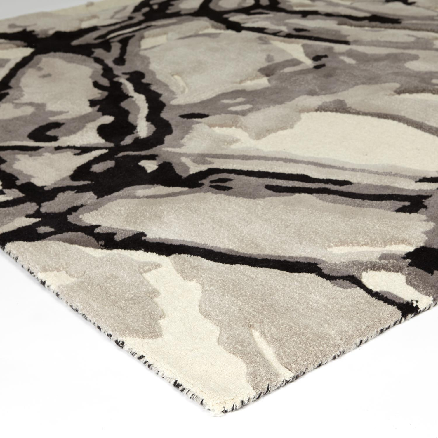 Global Views Eyes On The World Rug-Ivory/Black-6' x 9'