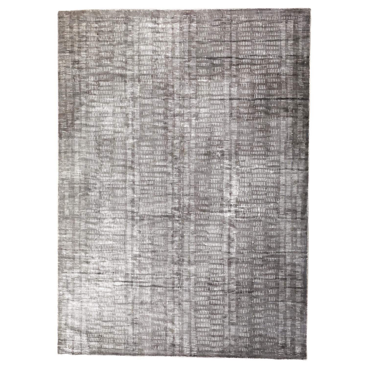 Global Views Frequency Rug-Charcoal/Cream-9' x 12'