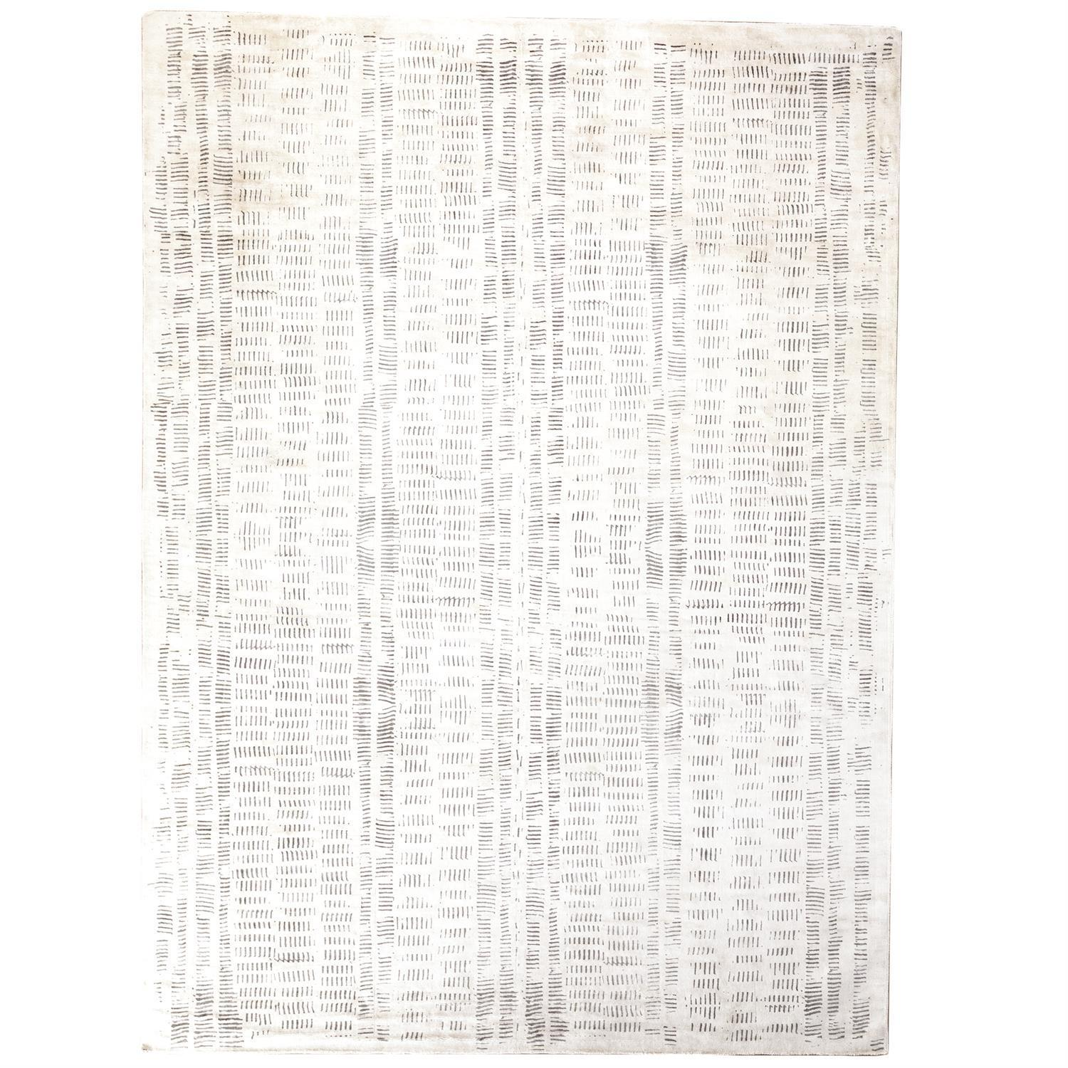 Global Views Frequency Rug-Cream/Charcoal-5' x 8'