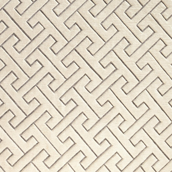 Global Views Home Global Views Tessellating Rug-Ivory/Grey-6' x 9'