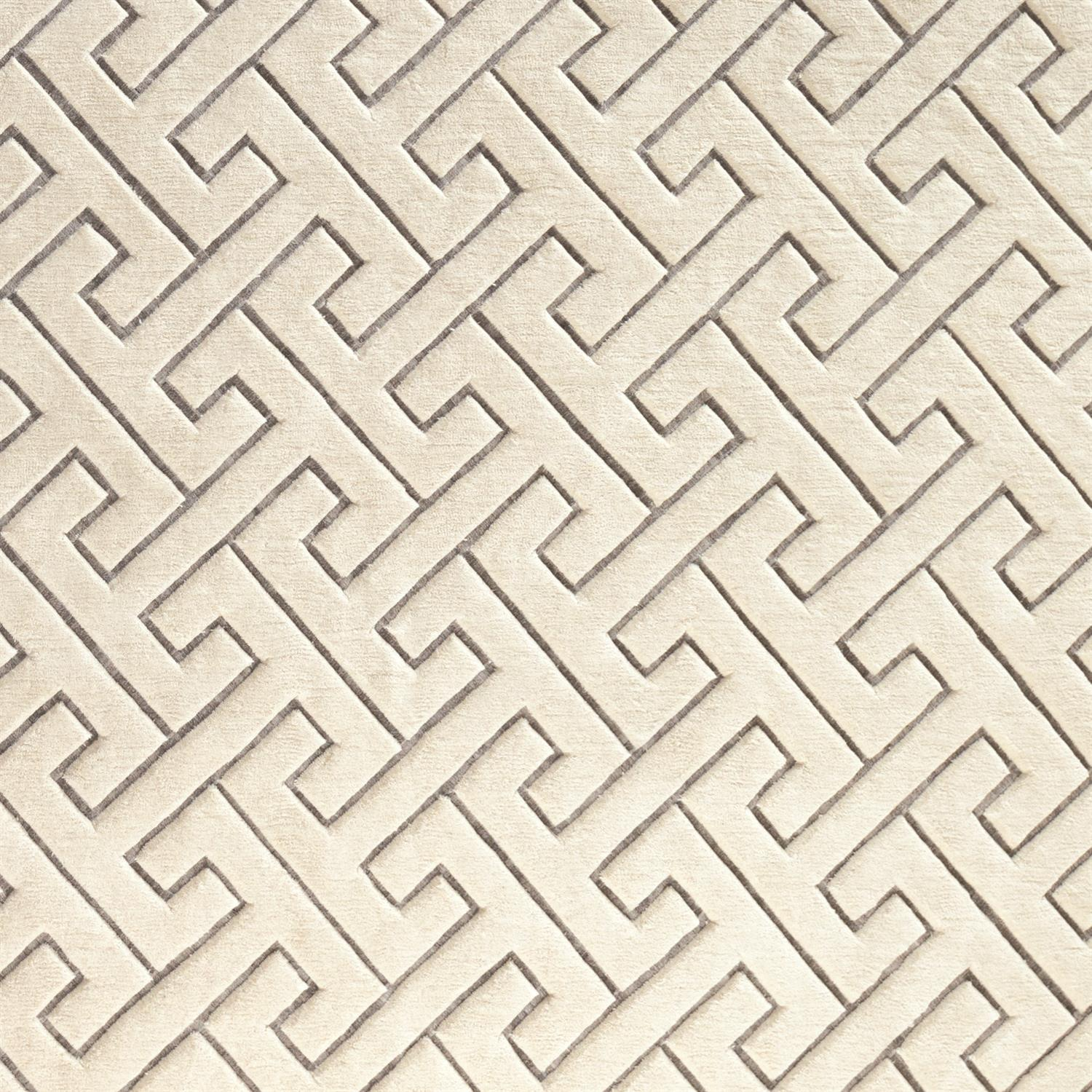 Global Views Tessellating Rug-Ivory/Grey-9' x 12'