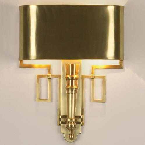 Global Views Lighting Hardwired Antique Brass Torch Sconce