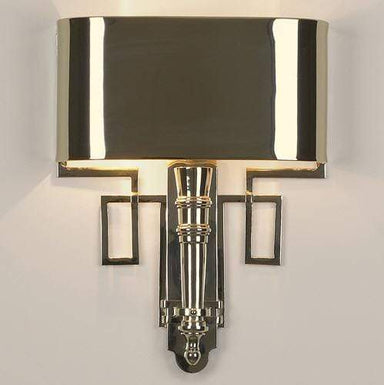 Global Views Lighting Hardwired Nickel Torch Sconce