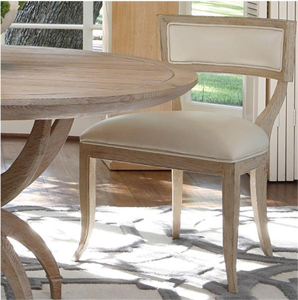 Global Views Furniture Klismos Chair-Beige Leather