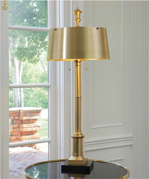 Global Views Lighting Library Lamp-Antique Brass