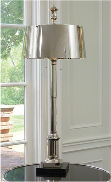 Global Views Lighting Library Lamp-Nickel
