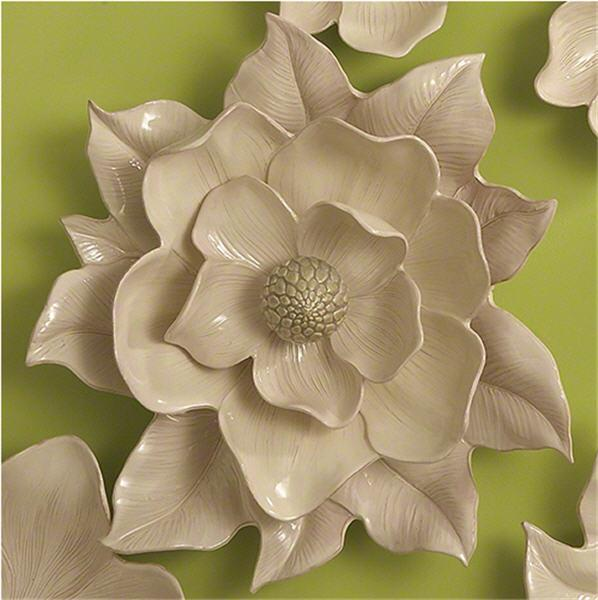 Global Views Home Magnolia Wall Flower-Ivory