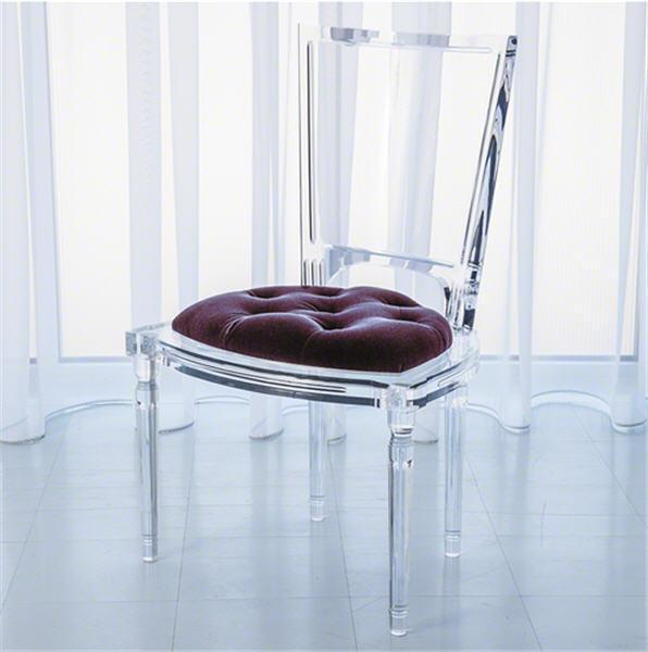 Global Views Furniture Marilyn Acrylic Side Chair-Sultana-Lavender