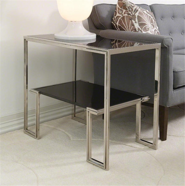 Global Views Furniture One-Up Table-Stainless Steel Finish