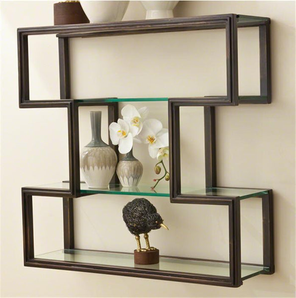Global Views Home One Up Wall Shelf-Bronze Finish