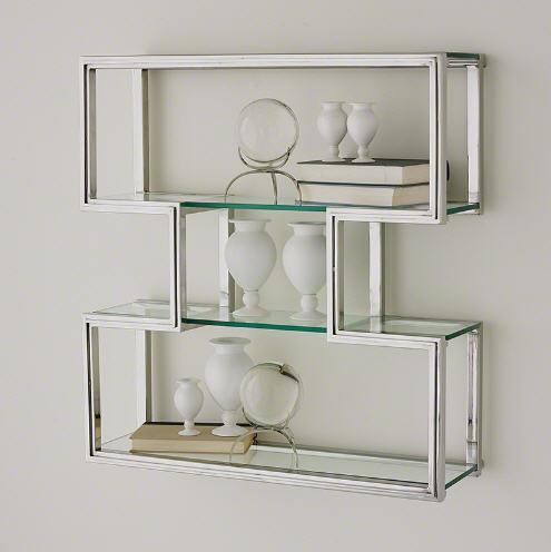 Global Views Home One Up Wall Shelf-Stainless Steel Finish
