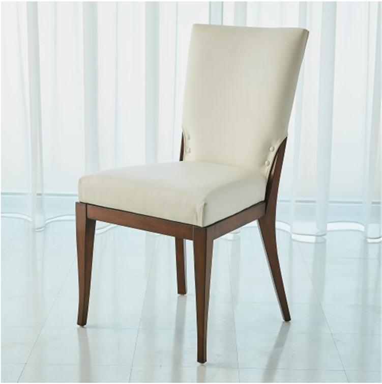 Global Views Furniture Opera Chair-White