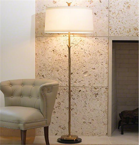 Global Views Lighting Organic Floor Lamp-Antique Brass Finish