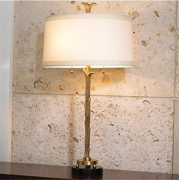Global Views Lighting Organic Table Lamp-Antique Brass Finish
