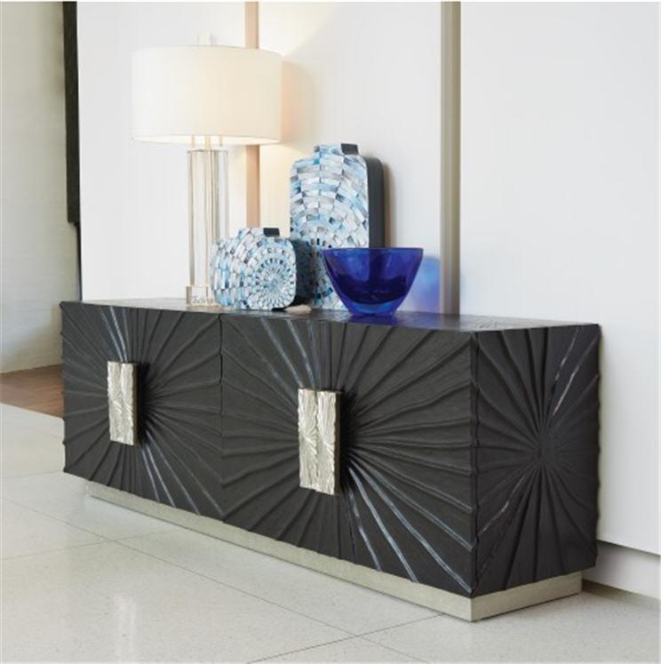 Global Views Furniture Pleated Media Cabinet