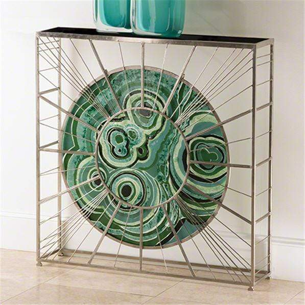 Global Views Furniture Radial Console-Nickel
