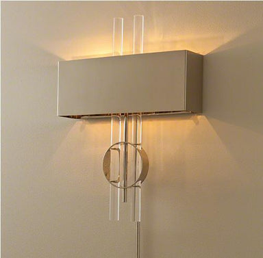 Global Views Lighting Radio City Hardwired Wall Sconce-Nickel