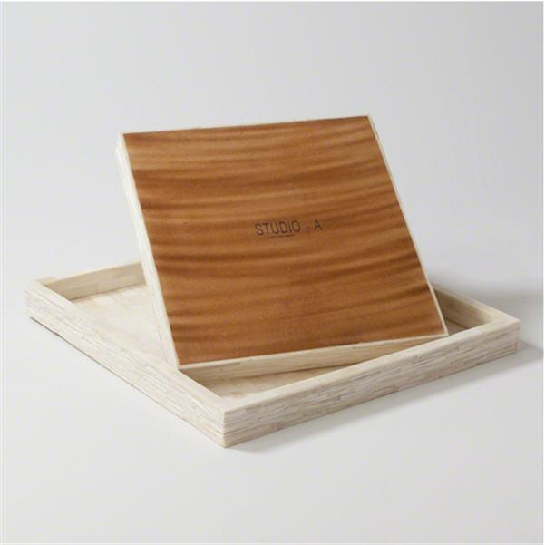 Global Views Home Studio-A by Chiseled Bone Tray-Large