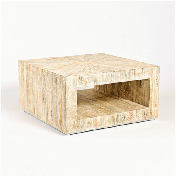 Global Views Furniture Studio-A by Driftwood Coffee Table-Square