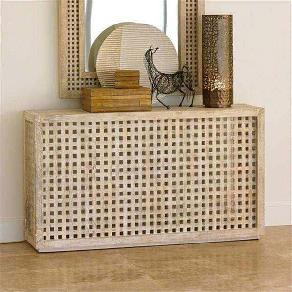 Global Views Furniture Studio-A by Driftwood Lattice Console