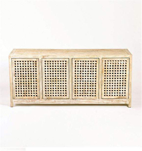 Global Views Furniture Studio-A by Driftwood Lattice Credenza