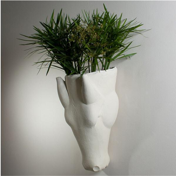 Global Views Home Studio-A by Equus Wall Vase-Limestone Finish