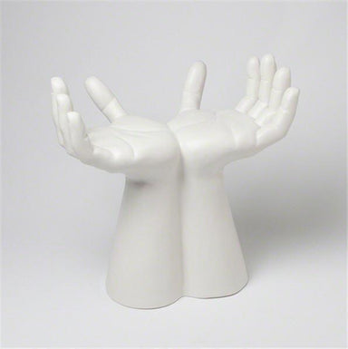 Global Views Furniture Studio-A by Hands Stool-Matte White