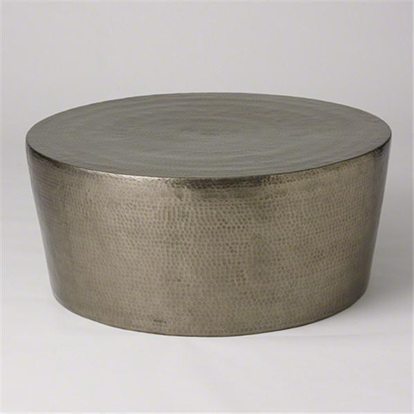 Global Views Furniture Studio-A by Izmir Hammered Cocktail Table-Nickel