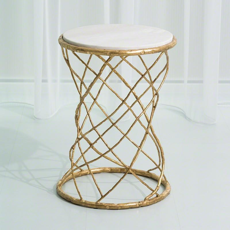 Global Views Furniture Studio-A by Tango Accent Table-Gold Leaf