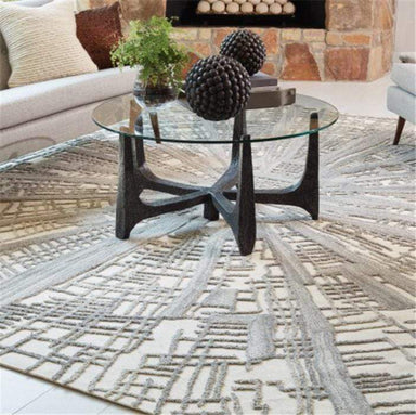 Global Views Home Studio-A by Vortex Rug-Ivory/Natural/Grey-9' x 12'