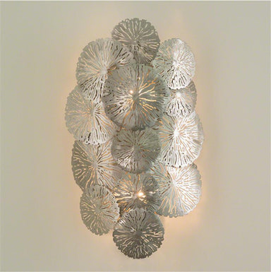 Global Views Lighting Studio A Lily Pad Wall Sconce-Antique Nickel-Hardwired